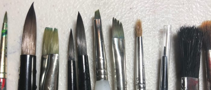 Types of watercolor paint brushes